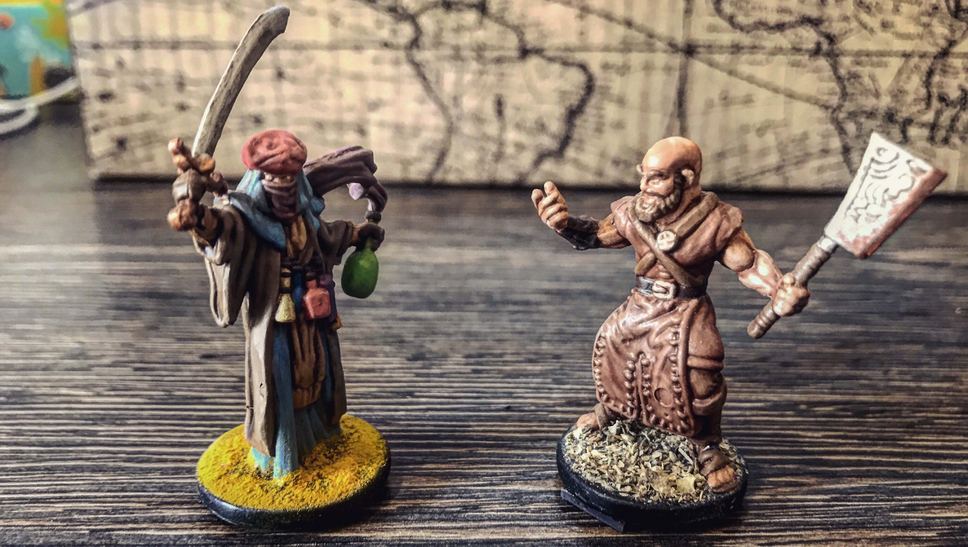 Folklore miniatures painted with bases