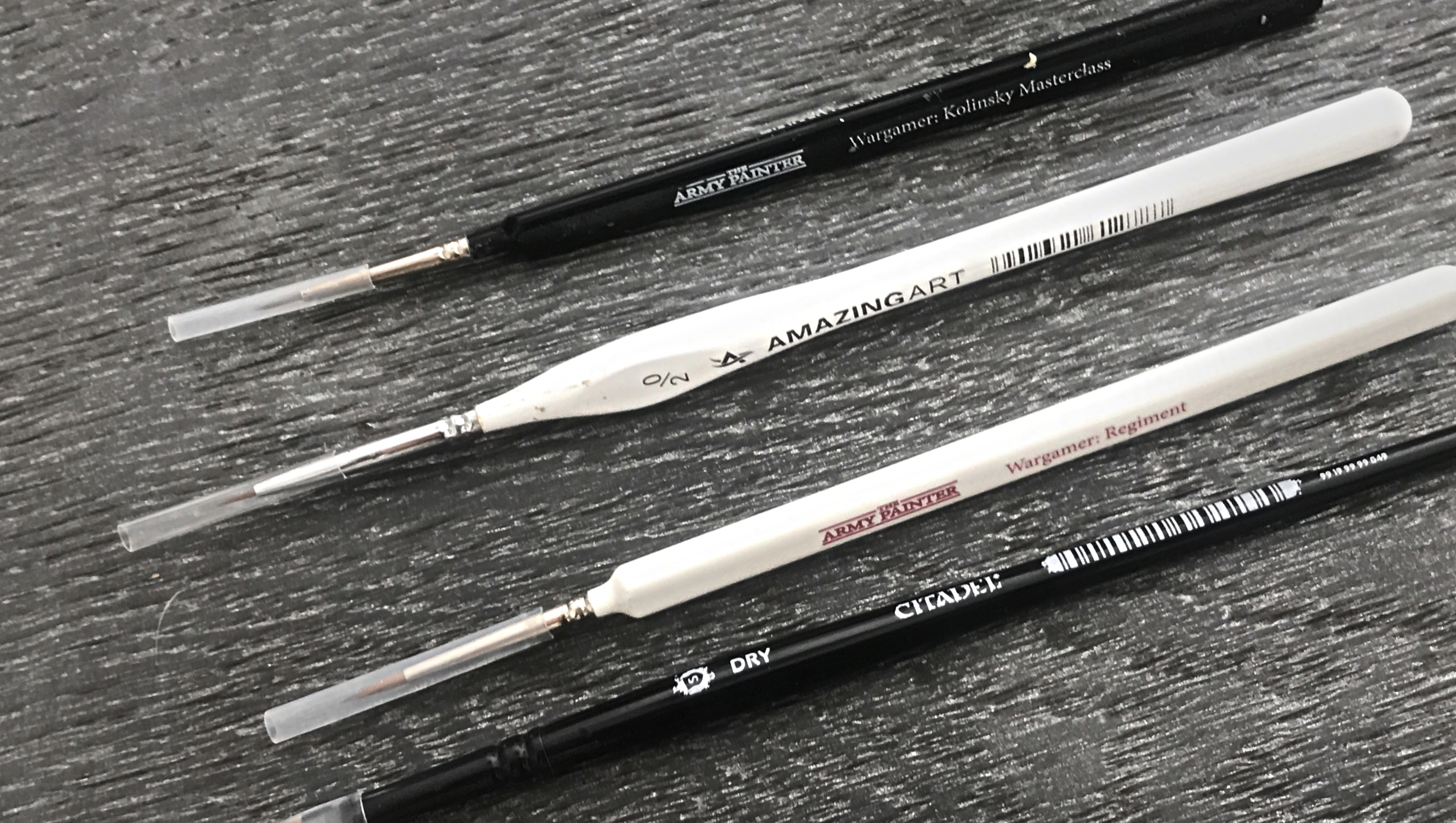 Miniatures painting brushes